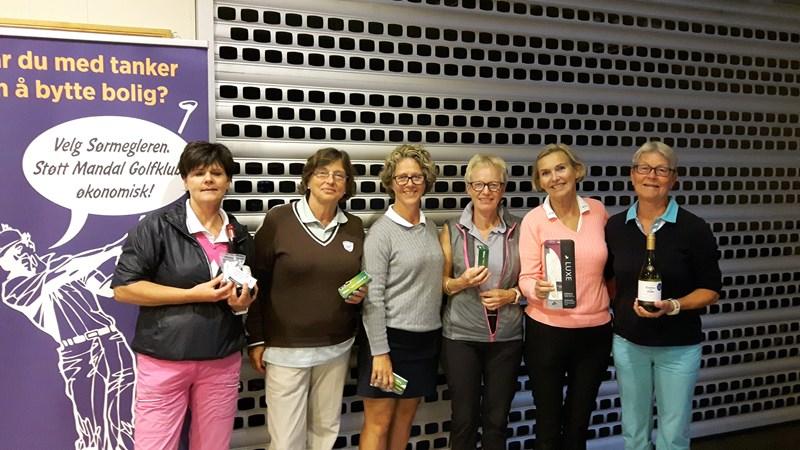Vinnerbildet. Turid, Sally, Hallfrid, Wenche, Jenny Ann og Margot