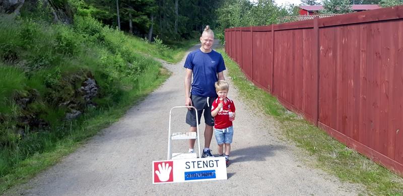Glenn Korsmo og sønnen Silas Sebastian (foto per j)