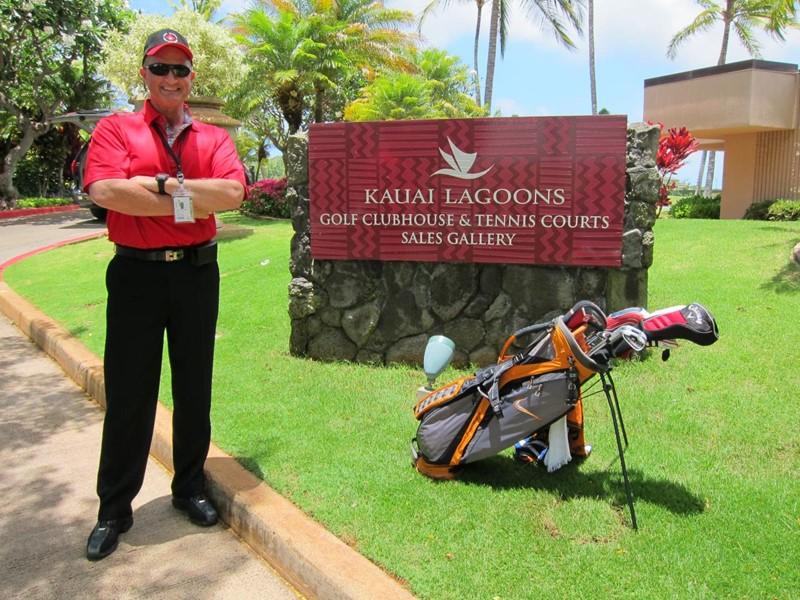 Klar til spill på Kauai Lagoons Golf Klubb!