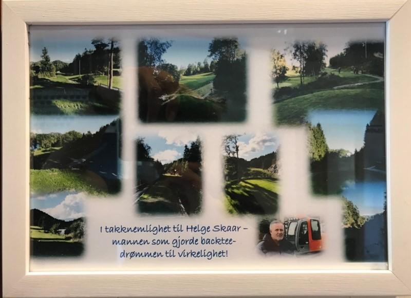 Hederspris til Helge Skaar for sin store innsats med gravingen for back tee