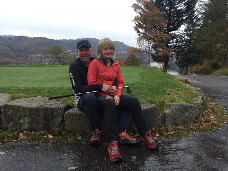 Vinnere av firmacup 2018 Karina og Oddbjørn Breland (foto k lavik)