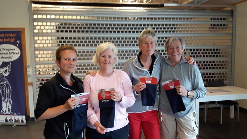 Vinnerlaget var Siri, Anne Liv, Britt og Torgun.