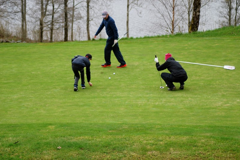 Fra venstre vinner Miller Baitmann, Frode Arntsen og Britt Andersen (alle foto per j)