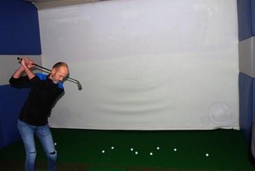 Golf turnering på simulatoren.
