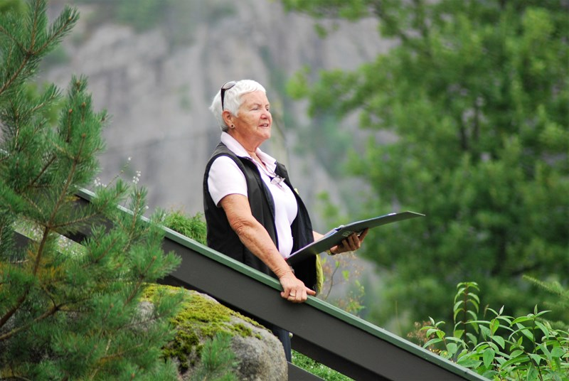 Leder i seniorgruppa Anna Eikestøl (foto per j)