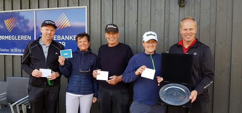 De fem beste Fra venstre Jack Sylte, Anne Wirsching, Oskar Einar Skårdal, Jonny Hjortland og Rune Svennevik. (foto j.r.ruud)