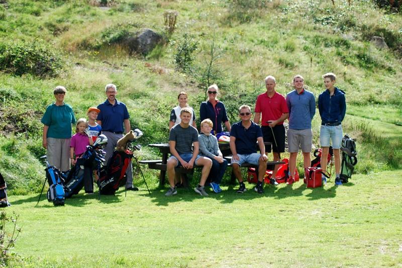 Et fint knippe golfere - både erfarne og ferske