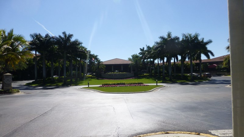Ankomst området til PGA National Resort, Palm Beach Garden.