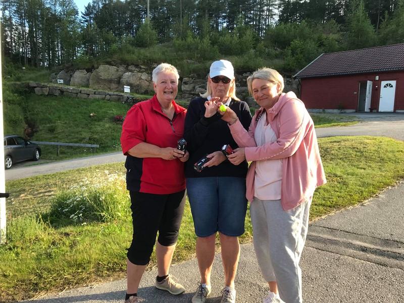 Vinnerlaget. Anne Rita, Anne Brit og Laila.