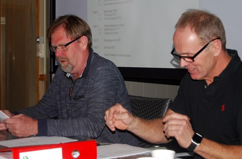 Kveldens dirigent Svein A Bårdsen og Rune Svennevik (foto p jørgensen)