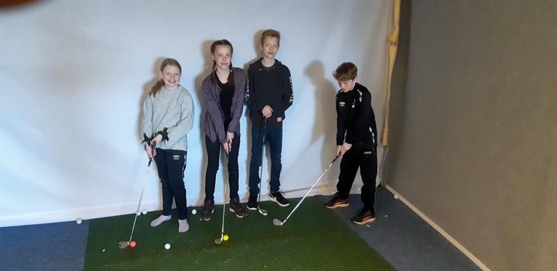 Fra v. Mina Løland Sneve, Sunniva Lindal, Jonathan Lindal og Bendik Løland Sneve