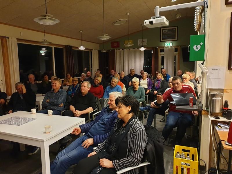 Mange medlemmer tok turen til klubbhuset denne kvelden