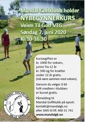 Veien til Golf kurs (VTG) blir arrangert søndag 7. juni.