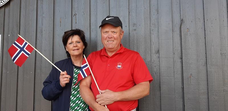 Turid og Kjartan klar for landskamper (foto per j)