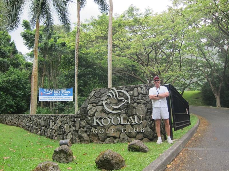Inngangsparti til Ko`olau Golf Klubb Honolulu, Hawaii  (alle fotos C Jacobsen)