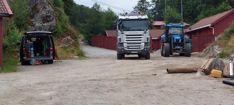 Klargjøring til asfaltering fredag (foto per j)