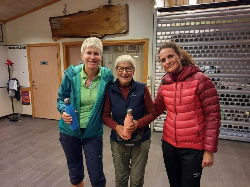 Vinnerlaget. Britt, Borghild og Hilde.