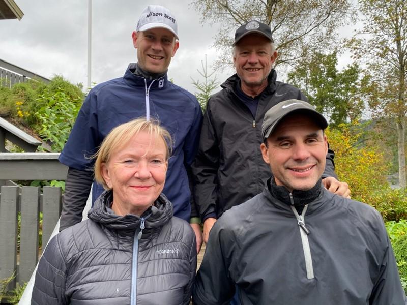 Lederflight klasse A bak fra v Edmund Jaabæk, Steinar Vatnedal, Tutti Ericson og Kjell Erik Røisland (foto f arntsen)