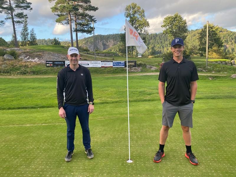 Vinnere av Firmacupen 2020 Edmund Jaabæk og Erling Knutsen (foto e jaabæk)